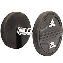 Buy Adidas Dumbbell, 7.5kg, Black Online at johnlewis.com