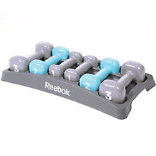 Buy Reebok Dumbbell Set, Grey/Light Blue Online at johnlewis.com