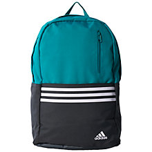 Buy Adidas Versatile 3 Stripes Backpack, Green Online at johnlewis.com