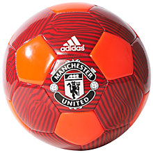 Buy Adidas Manchester United FC Football, Red Online at johnlewis.com