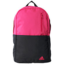 Buy Adidas Versatile Backpack, Pink/Black Online at johnlewis.com