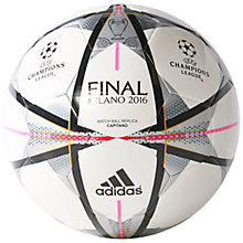 Buy Adidas Finale Milano Mini Ball Online at johnlewis.com