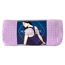 Buy Manuka Yoga Towel, Purple Online at johnlewis.com