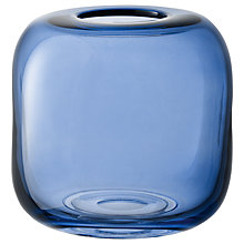 Buy LSA International Molten Cube Vase, 17cm Online at johnlewis.com