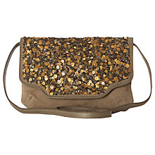 Buy White Stuff  Emma Sequin Across Body Bag, Soft Grey Online at johnlewis.com