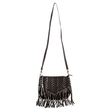 Buy East Nikki Woven Metallic Crossbody Bag, Black Online at johnlewis.com