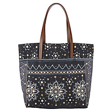 Buy East Serina Mirror Work Tote Bag, Grey Online at johnlewis.com