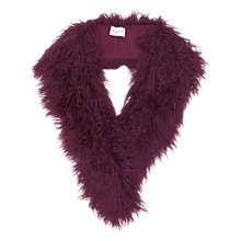 Buy East Faux Mongolian Fur Collar Scarf, Viola Online at johnlewis.com