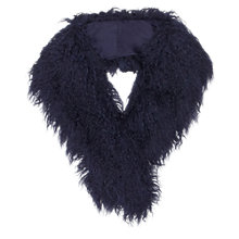 Buy East Faux Mongolian Collar, Blue Online at johnlewis.com