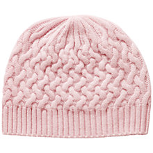 Buy Pure Collection Ibbotson Cashmere Textured Hat, Chalk Pink Online at johnlewis.com