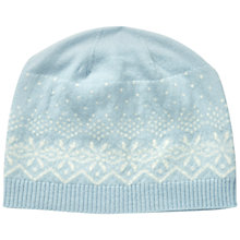 Buy Pure Collection Packington Cashmere Fairisle Hat, Ice Blue/Soft White Online at johnlewis.com