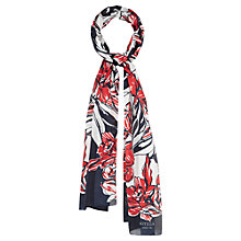 Buy Viyella Large Drawn Flower Scarf, Navy Online at johnlewis.com
