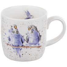 Buy Royal Worcester Wrendale Budgie Mug Online at johnlewis.com