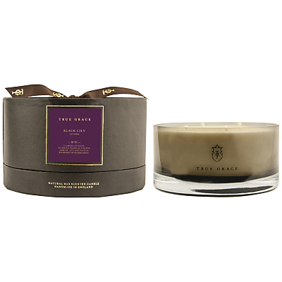 True Grace Black Lily Scented Bowl Candle, Medium