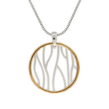 Buy Nina B Circle Pendant Necklace, Silver/Gold Online at johnlewis.com