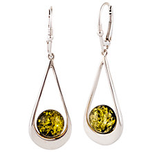 Buy Be-Jewelled Sterling Silver Tear Drop Earrings Online at johnlewis.com