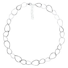 Buy Nina B Open Pear-Shaped Links Necklace, Silver Online at johnlewis.com