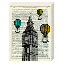 Buy Marion Mcconaghie - Big Ben & Balloons Canvas Print, 20 x 15cm Online at johnlewis.com