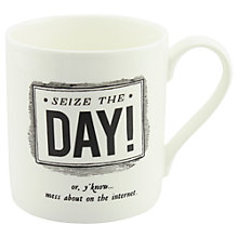 Buy Alice Scott 'Seize The Day!' Mug Online at johnlewis.com