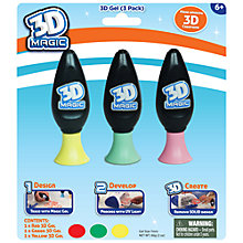Buy 3D Magic 3D Gel, Pack of 3 Online at johnlewis.com
