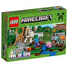 Buy LEGO Minecraft 21123 The Iron Golem Online at johnlewis.com