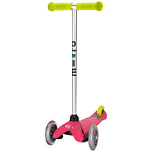 Buy Micro Scooters Mini Micro T-Bar Special Edition, Raspberry/Lime Online at johnlewis.com