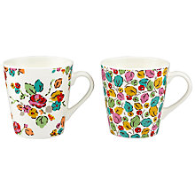Buy Cath Kidston Woodland Rose Stanley Mug, Set of 2 Online at johnlewis.com