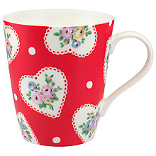 Buy Cath Kidston Lace Hearts Stanley Mug Online at johnlewis.com
