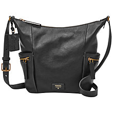 Buy Fossil Emerson Small Leather Hobo Bag Online at johnlewis.com
