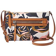 Buy Fossil Dawson Across Body Bag, Rose Print Online at johnlewis.com