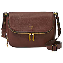 Buy Fossil Preston Small Flapover Across Body Bag Online at johnlewis.com