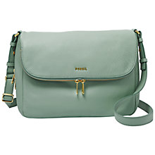 Buy Fossil Preston Leather Flapover Across Body Bag Online at johnlewis.com