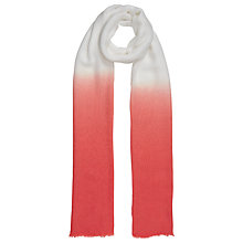 Buy John Lewis Dip Dye Modal Scarf, Orange/White Online at johnlewis.com