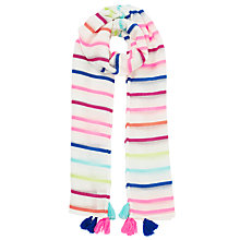 Buy John Lewis Stripe Tassel Scarf, Multi Online at johnlewis.com