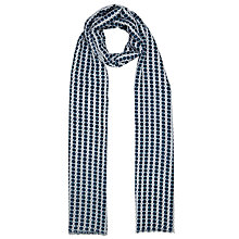 Buy John Lewis Batik Spot Scarf, Navy Online at johnlewis.com