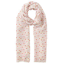 Buy John Lewis Clustered Bird Print Scarf, Multi Online at johnlewis.com