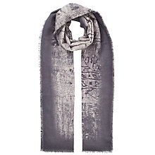 Buy John Lewis Ancient Beaded Tile Cotton Scarf, Grey Online at johnlewis.com