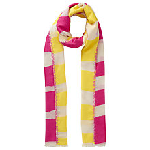 Buy John Lewis Two Sided Stripe Scarf, Fuchsia/Yellow Online at johnlewis.com
