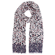 Buy John Lewis Daisy Print Scarf, Navy/Multi Online at johnlewis.com