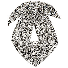 Buy John Lewis Snow Leopard Skinny Scarf, White/Black Online at johnlewis.com