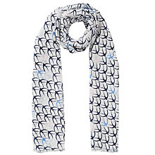 Buy John Lewis Swallow Print Scarf, Navy/Off White Online at johnlewis.com