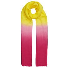 Buy John Lewis Dip Dye Modal Scarf, Canary Yellow/Fuchsia Online at johnlewis.com