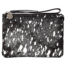 Buy Jigsaw Mini Blank Space Pochette Clutch, Black Online at johnlewis.com