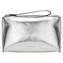 Buy Jigsaw Mini Clutch, Silver Online at johnlewis.com