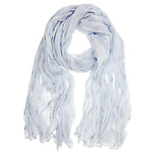 Buy Mint Velvet Shell Scarf, China Blue Online at johnlewis.com