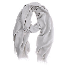 Buy Mint Velvet Dove Foil Textured Scarf, Grey Online at johnlewis.com
