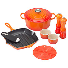 Buy Le Creuset Cast Iron 6 Piece Set, Volcanic Online at johnlewis.com