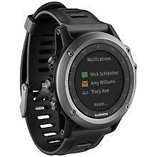 Buy Garmin Fenix 3 GPS Multisport Watch, Grey Online at johnlewis.com