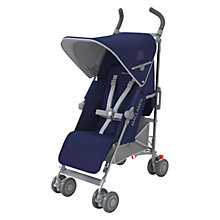 Buy Maclaren Quest Stroller, Blue/Silver Online at johnlewis.com