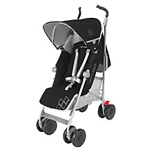 Buy Maclaren Techno XT Stroller, Black/Silver Online at johnlewis.com